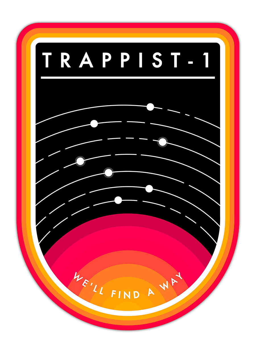 TRAPPIST-1 MISSION BADGE
